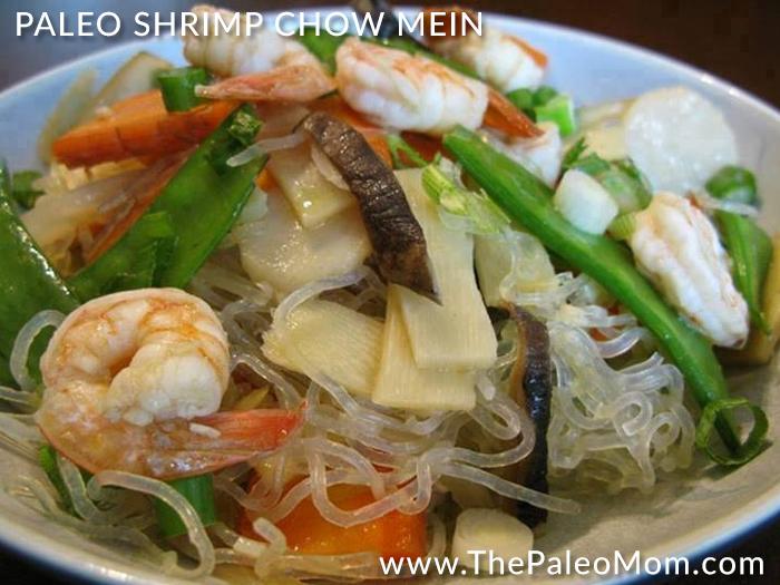Paleo Shrimp Chow Mein