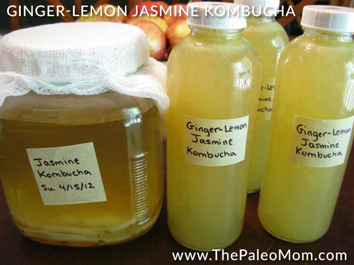 Ginger-Lemon Jasmine Kombucha