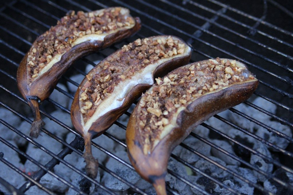 Barbecued Baked Bananas