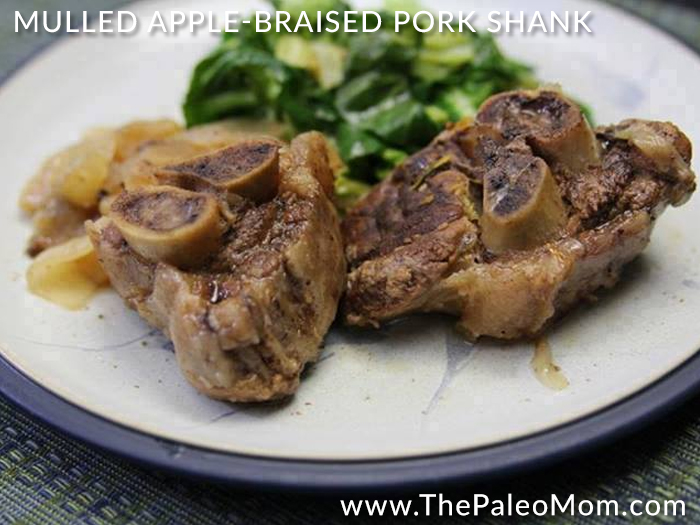 Mulled Apple-Braised Pork Shank