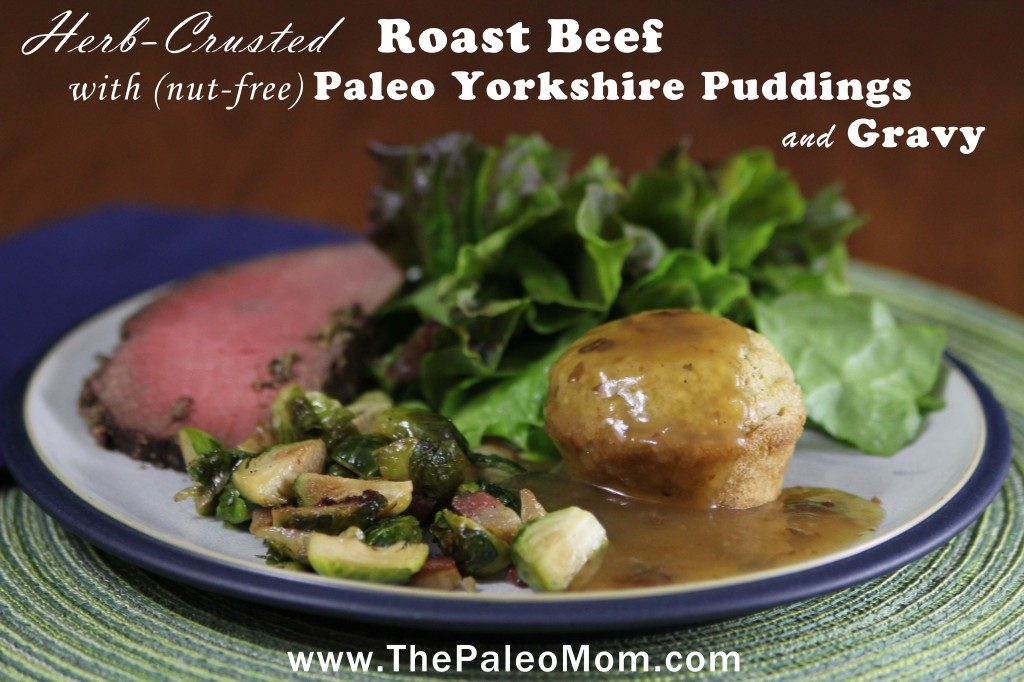 Herb Crusted Roast Beef with Yorkshire Puddings