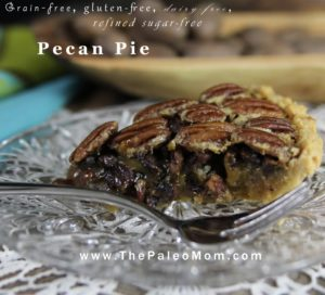 Paleo Pecan Pie | The Paleo Mom