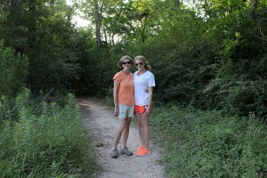 Here is my mom and I on a hike. We both really enjoy walking and being in nature.