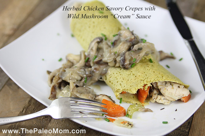 Herbed Chicken Savory Crepes with Wild Mushroom Cream Sauce - Option 2