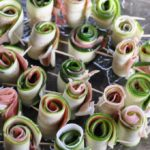 Zucchini Pinwheels of Prosciutto with Basil