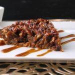 Pecan Pie w/ Bacon Crust & Caramel Drizzle