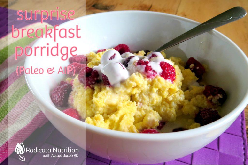 Aglaee Jacob - surprise breakfast porridge