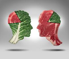 meat versus veggies
