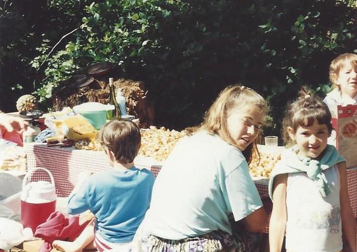 Sarah age 13 sorting chantarelles