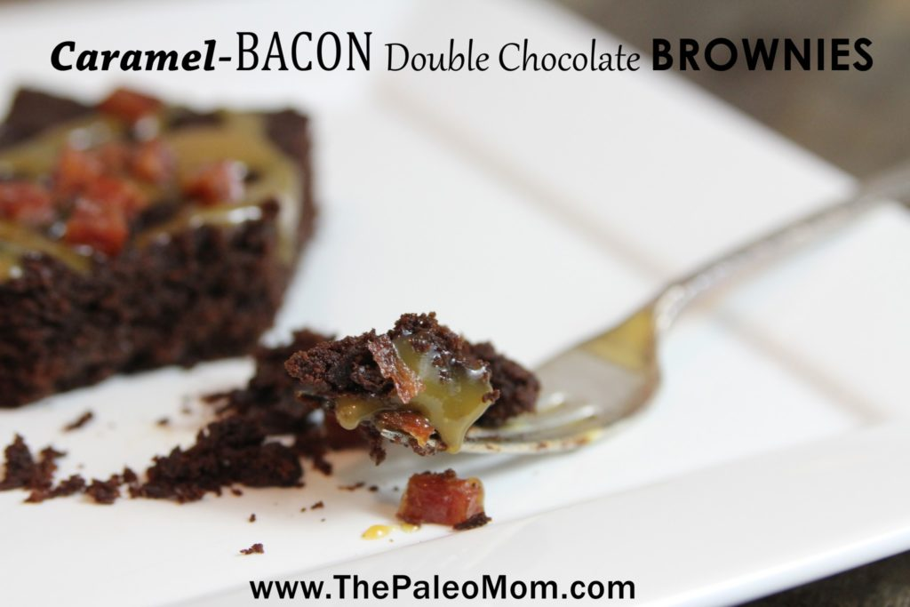 Caramel Bacon Double Chocolate Brownies