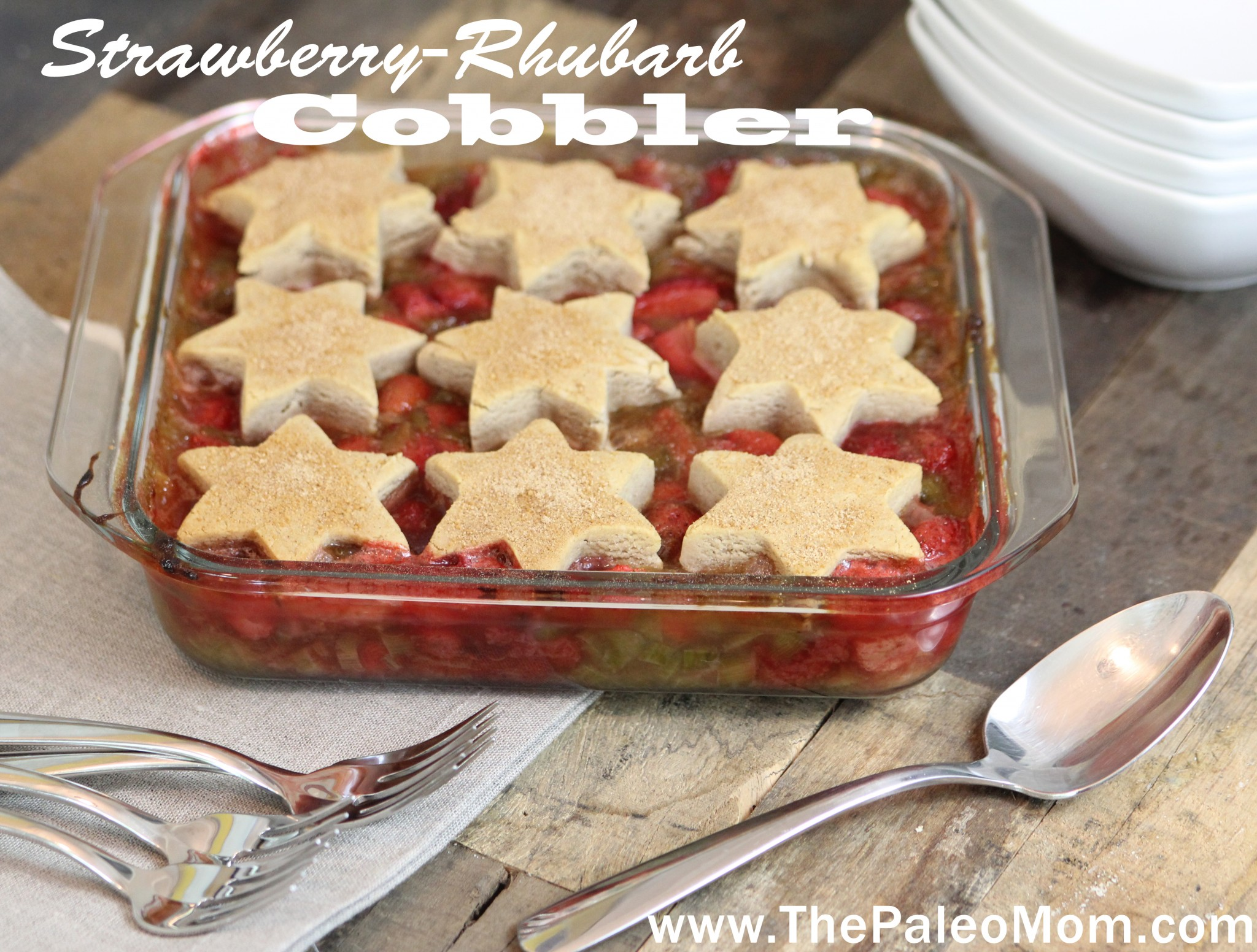 Strawberry-Rhubarb Cobbler 1