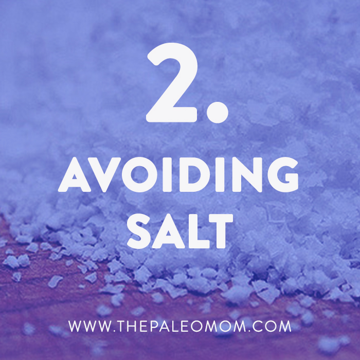 avoiding salt