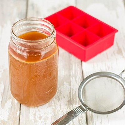 bone broth in a mason jar