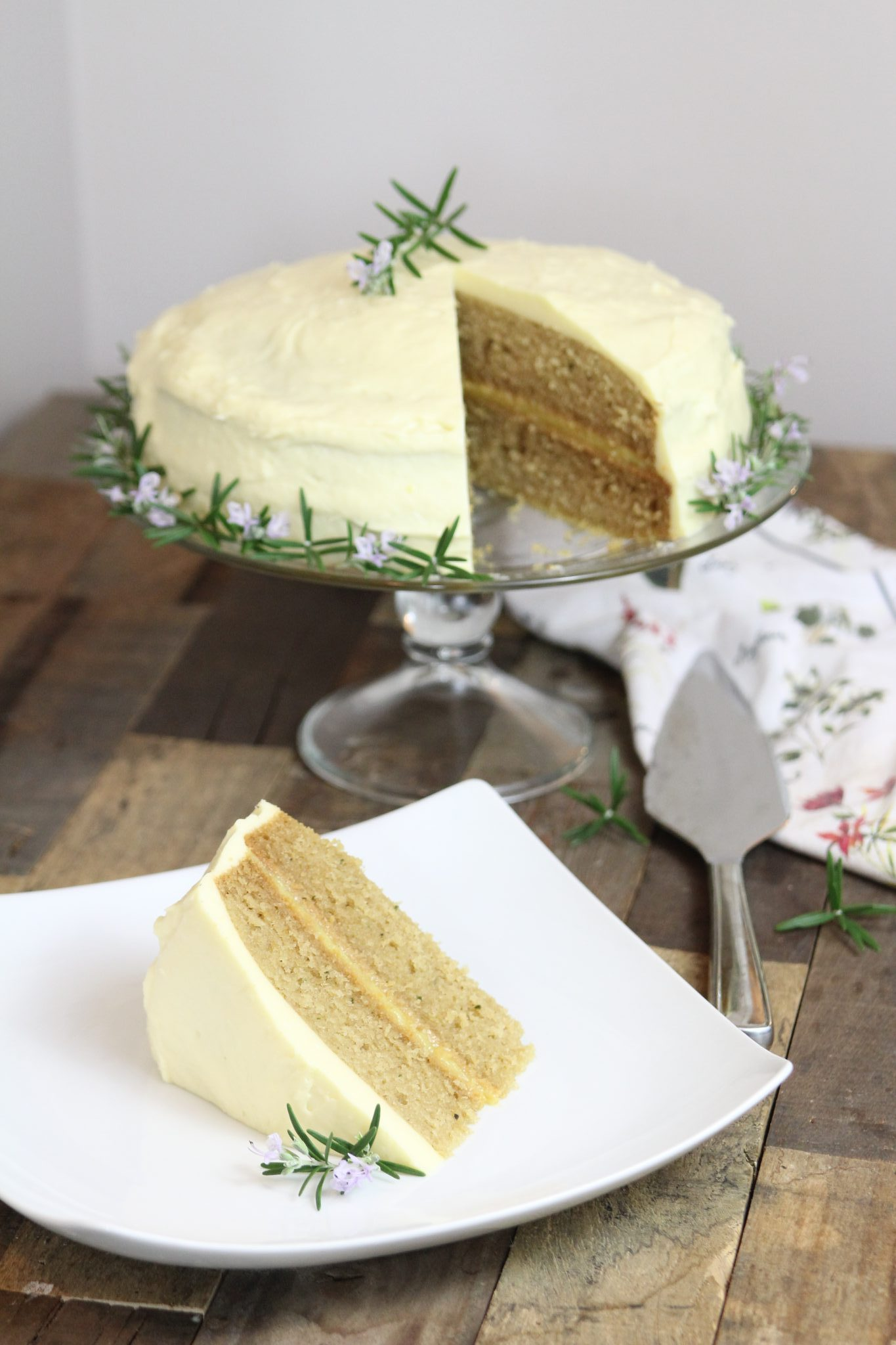 This Italian-style Lemon Rosemary Olive Oil cake is gluten-free, dairy-free and Paleo!