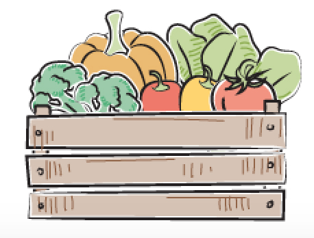 veggies in a basket icon