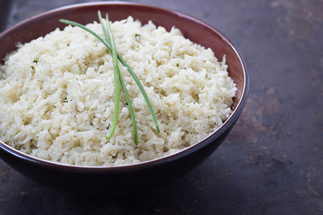 Ginger Garlic Cauliflower Rice