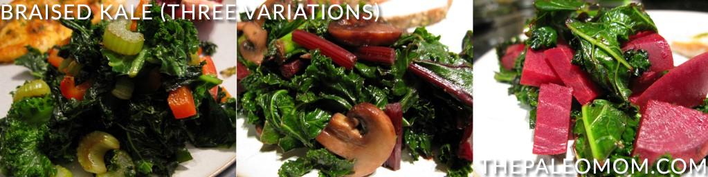 Braised Kale Three Variations