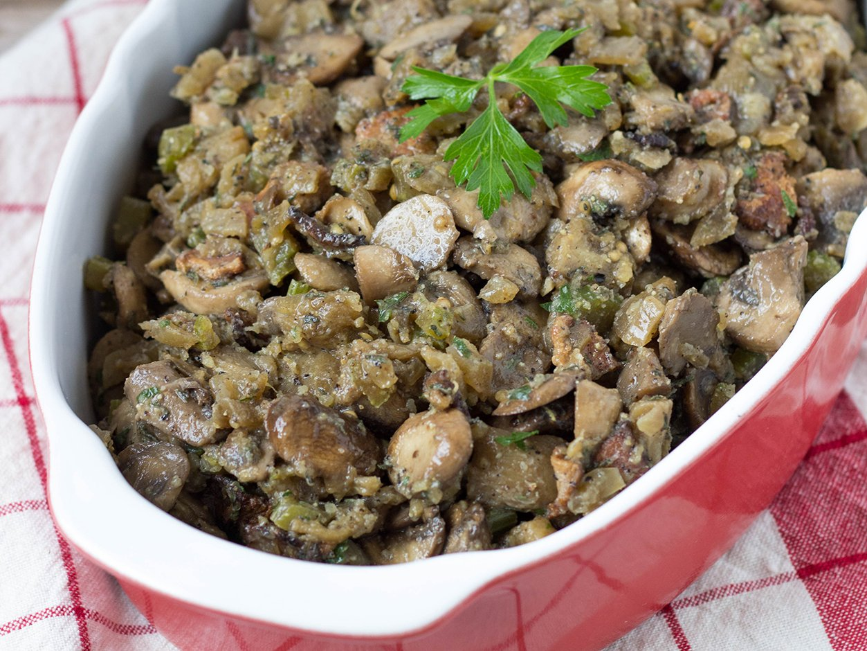 eggplant and mushroom stuffing