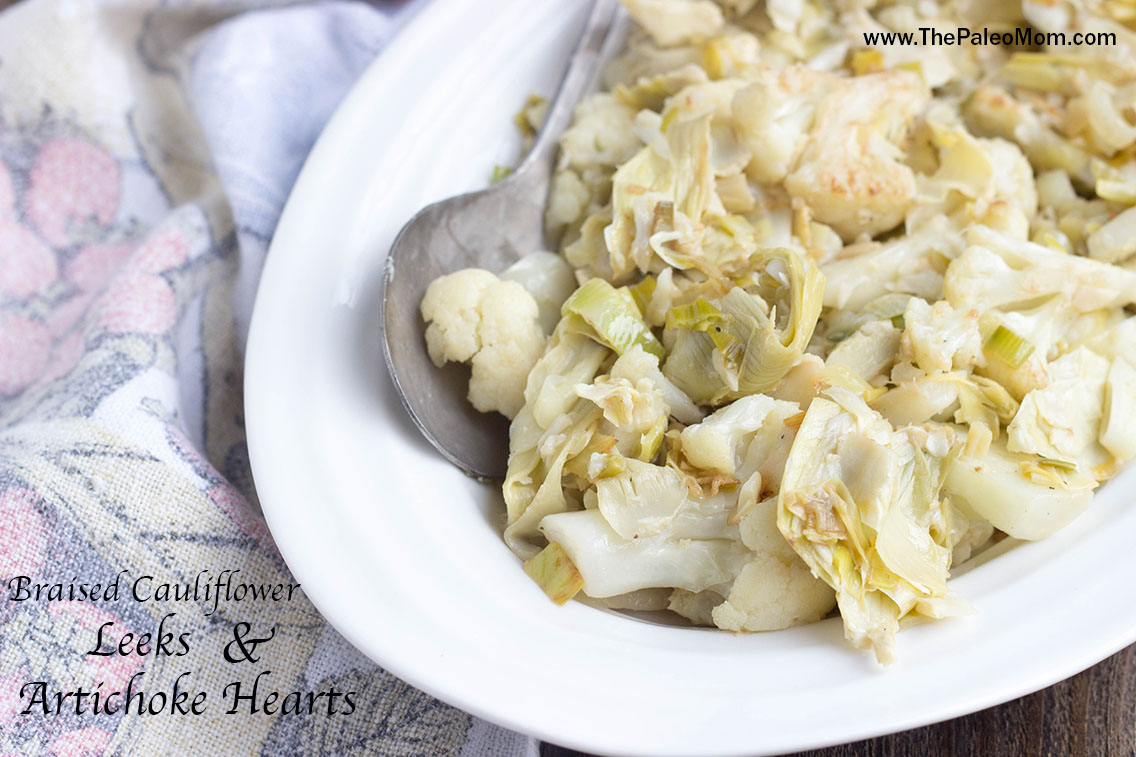 braisedcauliflowerleeksartichokehearts