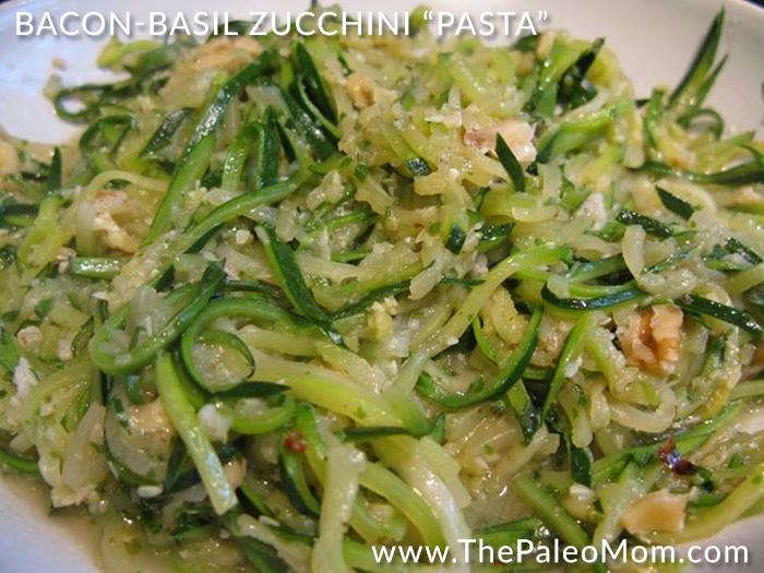 Bacon Basil Zucchini Pasta