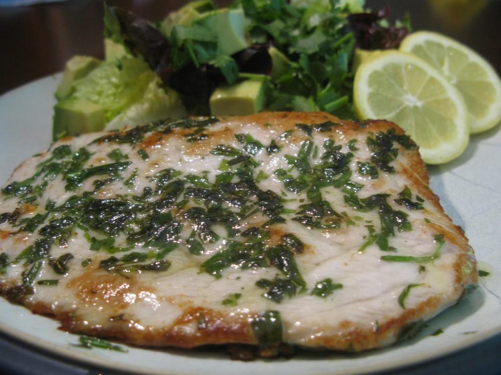 Pan seared tarragon amberjack whitefish fillet for Amberjack fish recipes