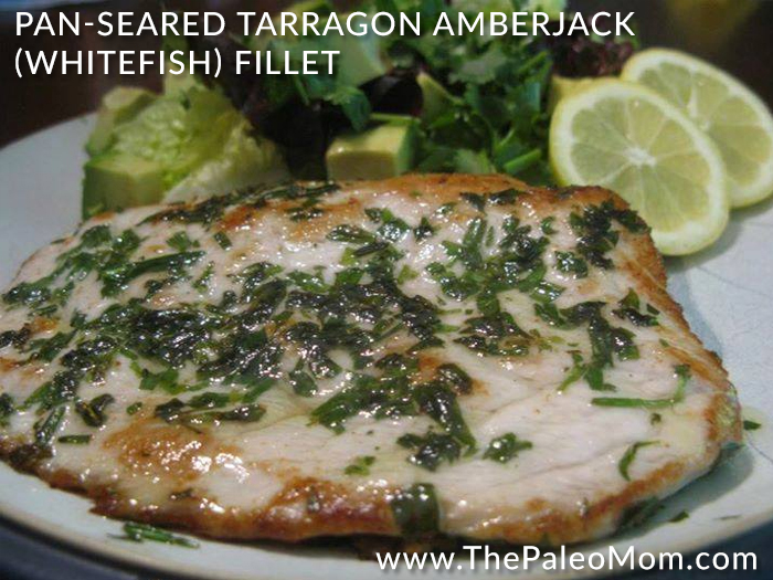 Pan-Seared Tarragon Amberjack Whitefish Fillet