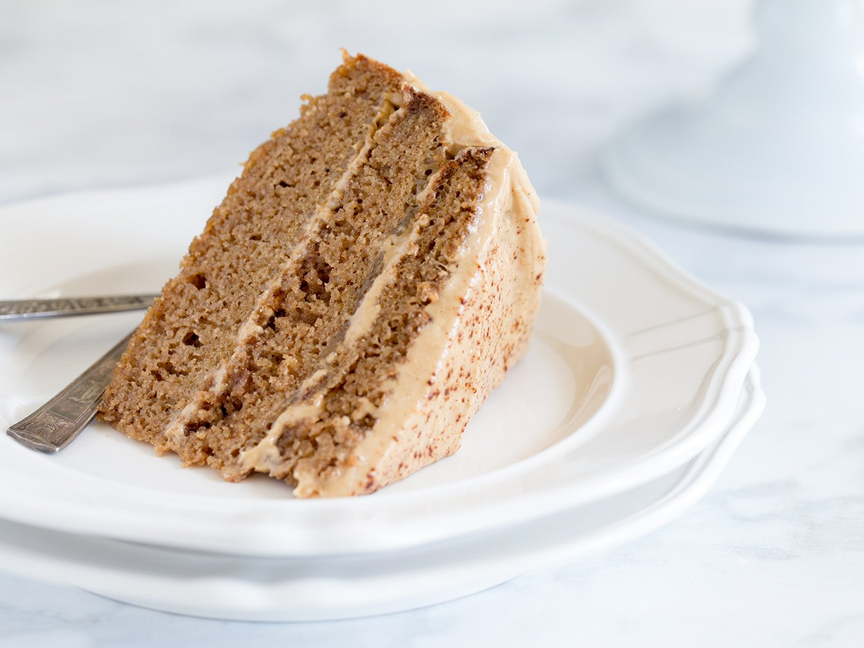 Spice Cake with Maple Cashew Frosting