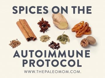 Spices on the Autoimmune Protocol