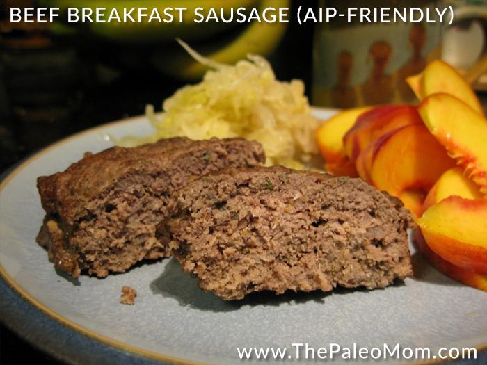 Beef Breakfast Sausage AIP-friendly