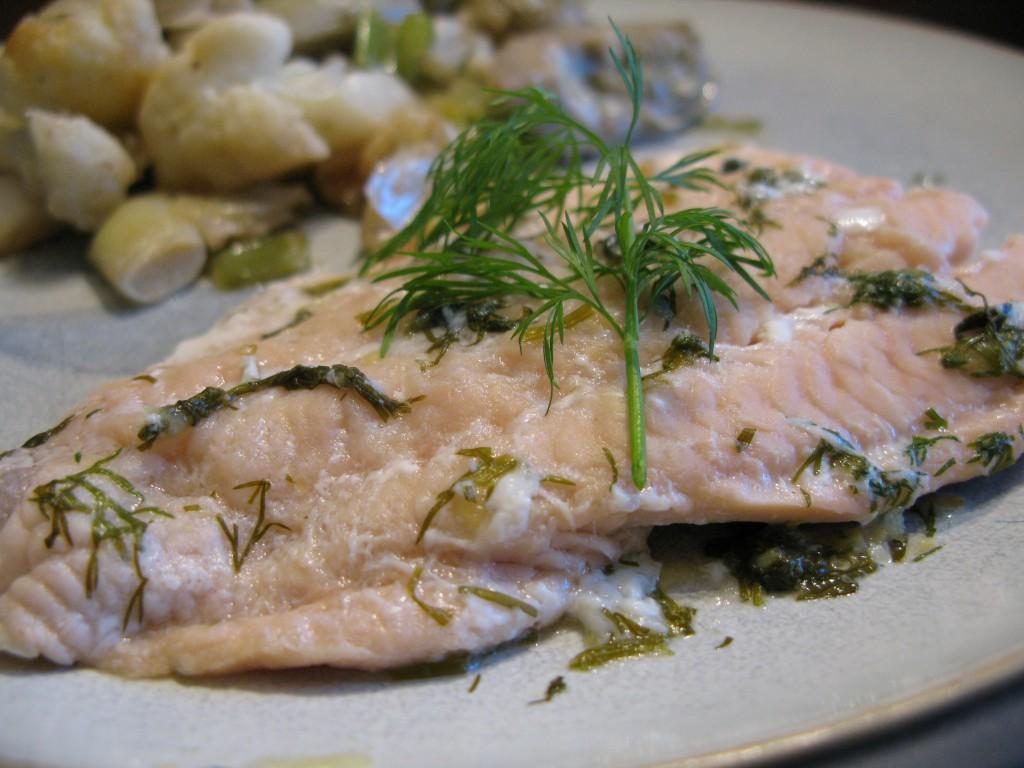Lemon-Dill Poached Salmon