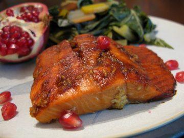 Pomegranate Molasses-Glazed Salmon