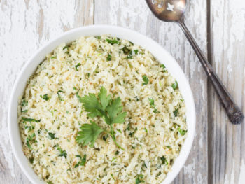 Lemon Parsley Cauliflower Rice