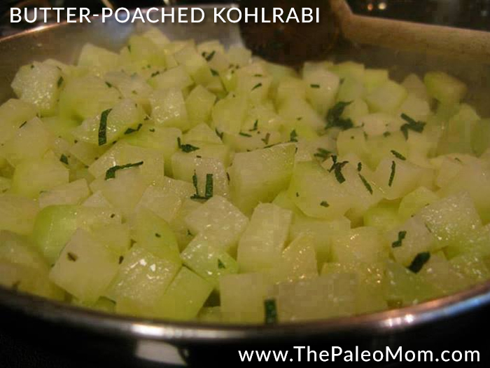 Butter-Poached Kohlrabi