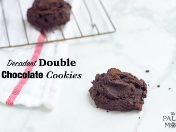 decadent double chocolate cookies