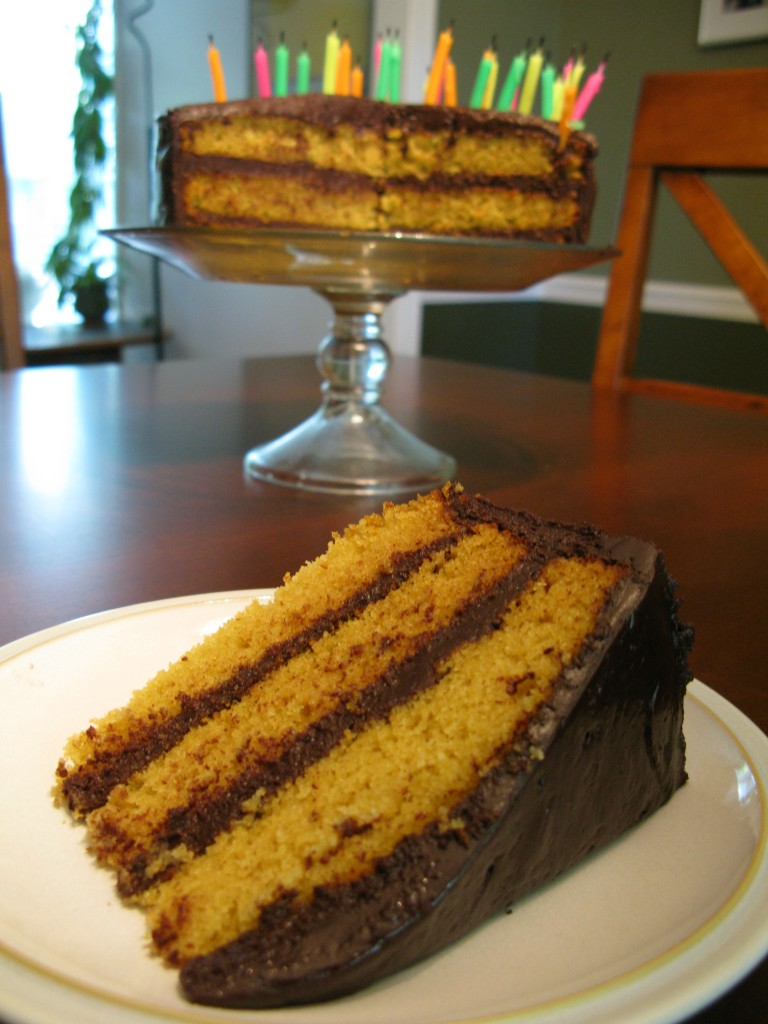 187 Vanilla Layer Cake With Dark Chocolate Frosting Nut