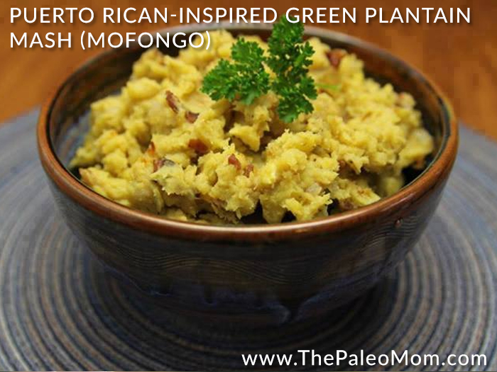 Puerto Rican Inspired Green Plantain Mash Mofongo
