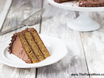 Vanilla Layer Cake with Dark Chocolate Frosting (Nut-Free and Makes Great Cupcakes Too!)