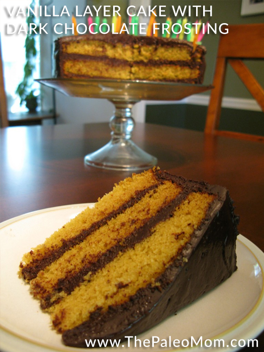 Vanilla Layer Cake with Dark Chocolate Frosting