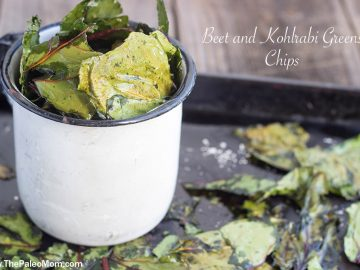 Beet and Kohlrabi Greens Chips