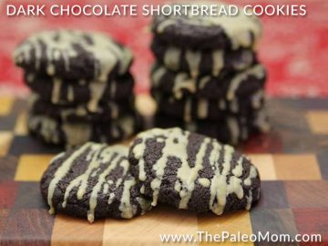 Dark Chocolate Shortbread Cookies (Sandies or Meltaways)
