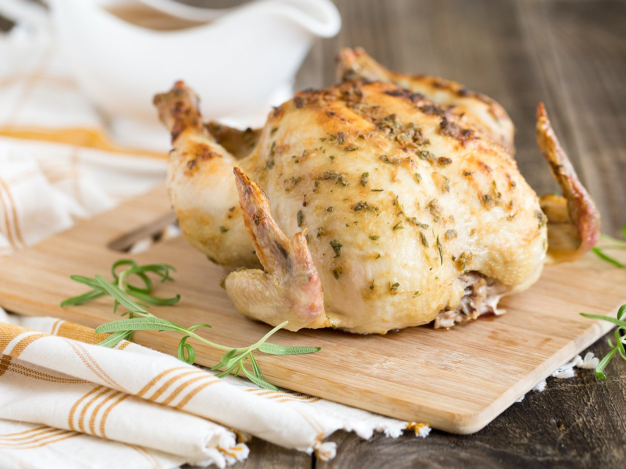 mustard and rosemary roasted chicken
