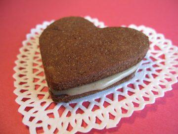 Paleo Nut-Free Chocolate Sandwich Cookie Valentines