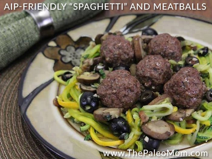 AIP-Friendly Spaghetti and Meatballs