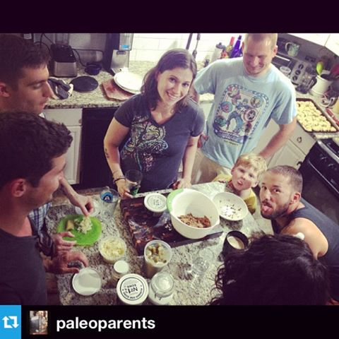 Hanging out in the kitchen with Bill, Hayley, George, Russ, Matt and Cole.