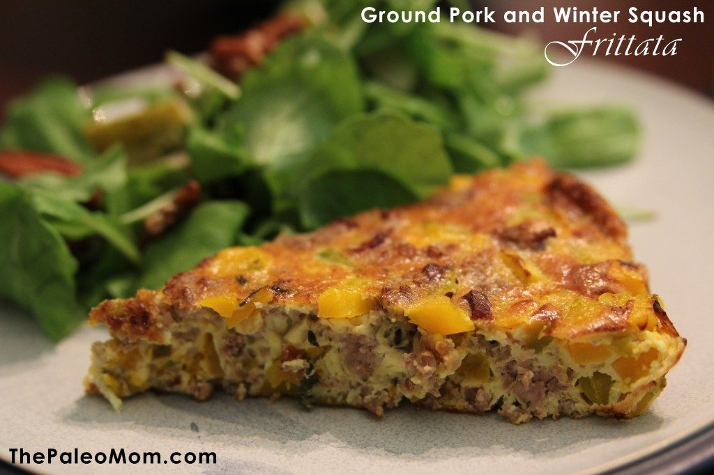 Ground Pork and Winter Squash Frittata | The Paleo Mom