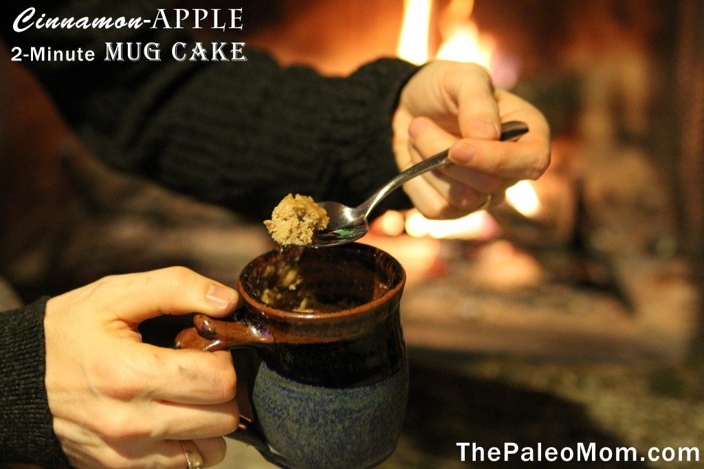 Cinnamon-Apple 2-Minute Mug Cake | The Paleo Mom