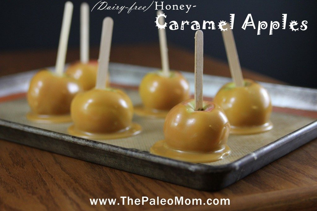 Three-Ingredient (Dairy-Free) Honey-Caramel Apples | The Paleo Mom