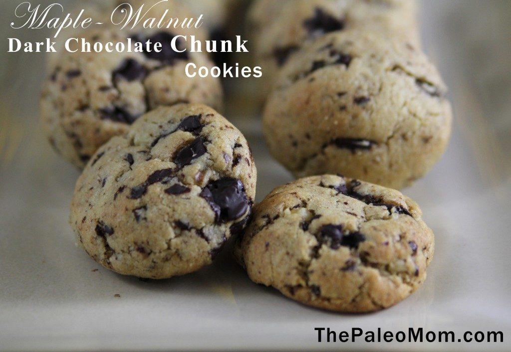 Maple-Walnut Dark Chocolate Chunk Cookie | The Paleo Mom