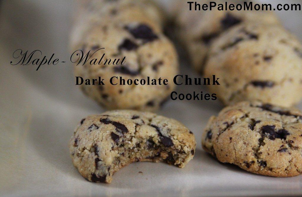 Maple-Walnut Dark Chocolate Chunk Cookies | The Paleo Mom