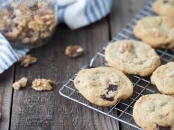 Maple Walnut Dark Chocolate Chunk Cookies